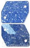 Swarovski 3265/B Cosmic Sew-on Marbled Blue 26x21mm