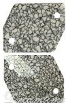 Swarovski 3265/B Cosmic Sew-on Marbled Ivory 26x21mm