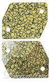 Swarovski 3265/B Cosmic Sew-on Marbled Yellow 20x16mm
