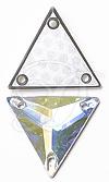Swarovski 3270 Triangle Sew-on Crystal AB 16mm