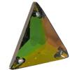 Swarovski 3270 Triangle Sew-on Crystal Vitrail Medium 22mm