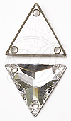 Swarovski 3270 Triangle Sew-on Crystal 22mm