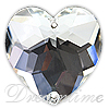 Swarovski 3285 Heart Shaped Sew-on Crystal 24mm