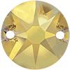 Swarovski 3288 Xirius Sew-on Crystal Metallic Sunshine 10mm