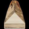 Swarovski 3296 Square Spike Sew-on Crystal Golden Shadow 7mm