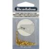 Crimp Tubes for Stretch Cord, fits stretch cord 0.7 or 0.8 mm (.031in), Gold Color, 80 pc