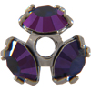 Swarovski 37903 Bead Cap pp32 Purple Velvet/ Gun Metal