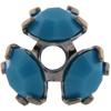 Swarovski 37903 Bead Cap pp32 Turquoise / Gun Metal