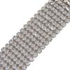 Swarovski 40001 Mesh 8 Row Wide Crystal/Silver