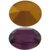 Swarovski 4100 Oval Fancy Stone Amethyst (Gold Foil) 12x10mm