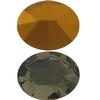 Swarovski 4100 Oval Fancy Stone Black Diamond (Gold Foil) 14x10mm