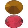Swarovski 4100 Oval Fancy Stone Dark Rose (Gold Foil) 12x10mm