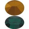 Swarovski 4100 Oval Fancy Stone Emerald (Gold Foil) 12x10mm