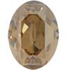 Dreamtime Crystal DC 4120 Oval Fancy Stone Crystal Golden Shadow 18x13mm