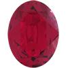 Swarovski 4120 Oval Fancy Stone Ruby (Gold Foil) 12x10mm