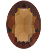 Swarovski 4120 Oval Fancy Stone Smoked Topaz (Unfoiled) 18x13mm