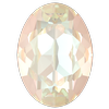 Dreamtime Crystal DC 4120 Oval Fancy Stone Crystal Ivory Cream DeLite 18x13mm