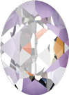 Dreamtime Crystal DC 4120 Oval Fancy Stone Crystal Lavender DeLite 18x13mm