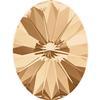 Swarovski 4122 Oval Rivoli Fancy Stone Crystal Golden Shadow 18x13.5mm