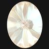 Swarovski 4122 Oval Rivoli Fancy Stone Crystal Ivory Cream DeLite 8x6mm