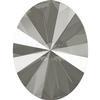 Swarovski 4122 Oval Rivoli Fancy Stone Crystal Dark Grey 18x13.5mm
