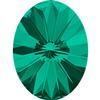 Swarovski 4122 Oval Rivoli Fancy Stone Emerald 18x13.5mm