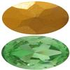Swarovski 4123 Long Oval Fancy Stone Peridot (Gold Foil) 16x8mm