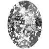 Swarovski 4127 Large Oval Fancy Stone Crystal Black Patina 30x22mm