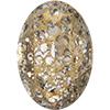 Swarovski 4127 Large Oval Fancy Stone Crystal Gold Patina 30x22mm