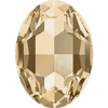 Dreamtime Crystal DC 4127 Large Oval Fancy Stone Crystal Golden Shadow 30x22mm