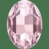 Dreamtime Crystal DC 4127 Large Oval Fancy Stone Light Rose 30x22mm