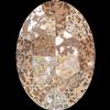 Swarovski 4127 Large Oval Fancy Stone Crystal Rose Patina 30x22mm