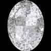 Swarovski 4127 Large Oval Fancy Stone Crystal Silver Patina 30x22mm