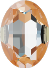 Swarovski 4127 Large Oval Fancy Stone Crystal Peach DeLite 30x22mm
