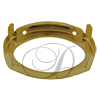 Swarovski 4120S Setting for Oval Fancy Stone Gold 6x4mm
