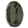 Swarovski 4128 Xilion Oval Fancy Stone Black Diamond 10x8mm