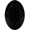 Swarovski 4130/2 Oval Fancy Stone (Table Cut) Jet 6x4mm