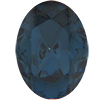 Swarovski 4130/2 Oval Fancy Stone (Table Cut) Montana 6x4mm