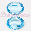 Swarovski 4140 Oval Fancy Stone Aquamarine (Unfoiled) 12x10mm
