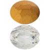Swarovski 4140 Oval Fancy Stone Crystal (Gold Foil) 12x10mm