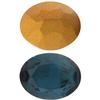 Swarovski 4140 Oval Fancy Stone Montana (Gold Foil) 16x11mm