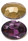 Swarovski 4140 Oval Fancy Stone Amethyst (Gold Foil) 16x11mm