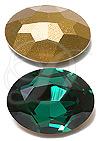 Swarovski 4140 Emerald Oval Rhinestone
