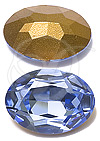 Swarovski 4140 Light Sapphire Oval Rhinestone