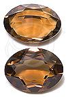 Swarovski 4140 Oval Fancy Stone Smoked Topaz (Unfoiled) 20x15mm