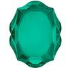 Swarovski 4142 Baroque Mirror Fancy Stone Emerald 10x8mm