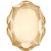 Swarovski 4142 Baroque Mirror Fancy Stone Crystal Golden Shadow 10x8mm