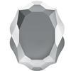 Swarovski 4142 Baroque Mirror Fancy Stone Crystal Light Chrome 10x8mm