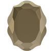 Swarovski 4142 Baroque Mirror Fancy Stone Crystal Metallic Light Gold 10x8mm