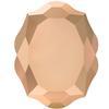 Swarovski 4142 Baroque Mirror Fancy Stone Crystal Rose Gold 10x8mm